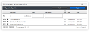 Aval-Management Telekom Dokumentenablage