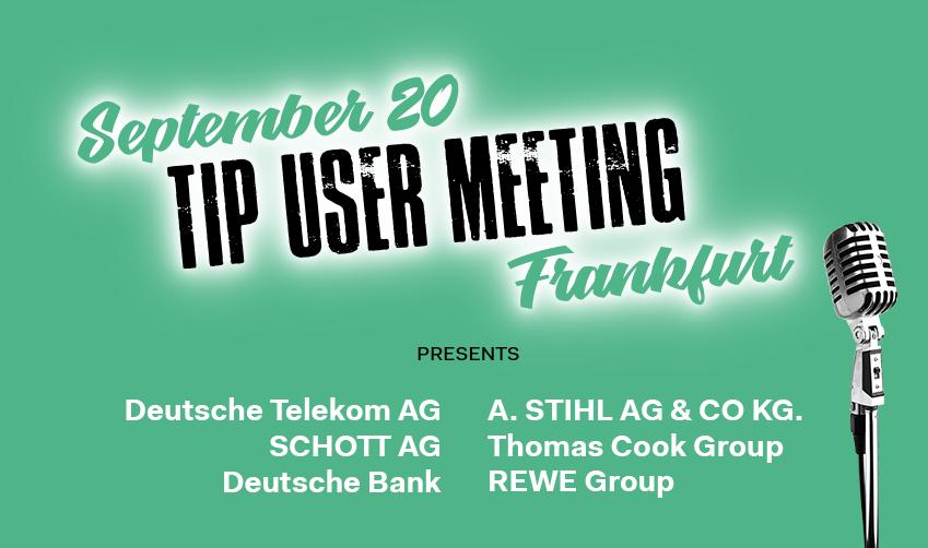 TIP user meeting on digitisation